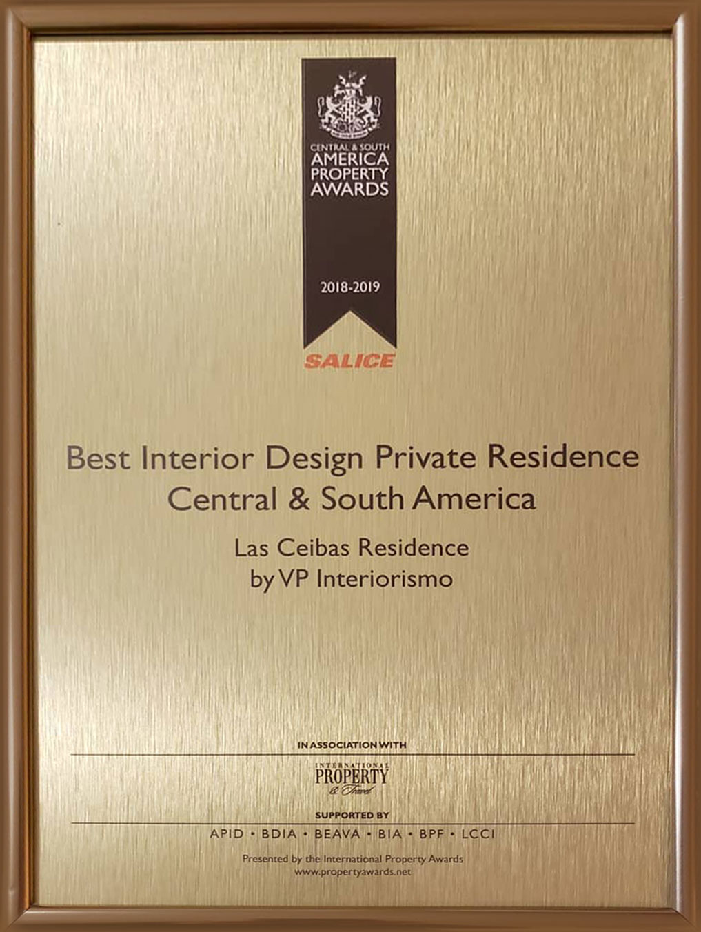 Best Interior Design Private Residence Central & South America